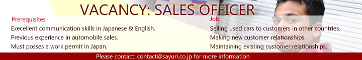 sales officer vacancy