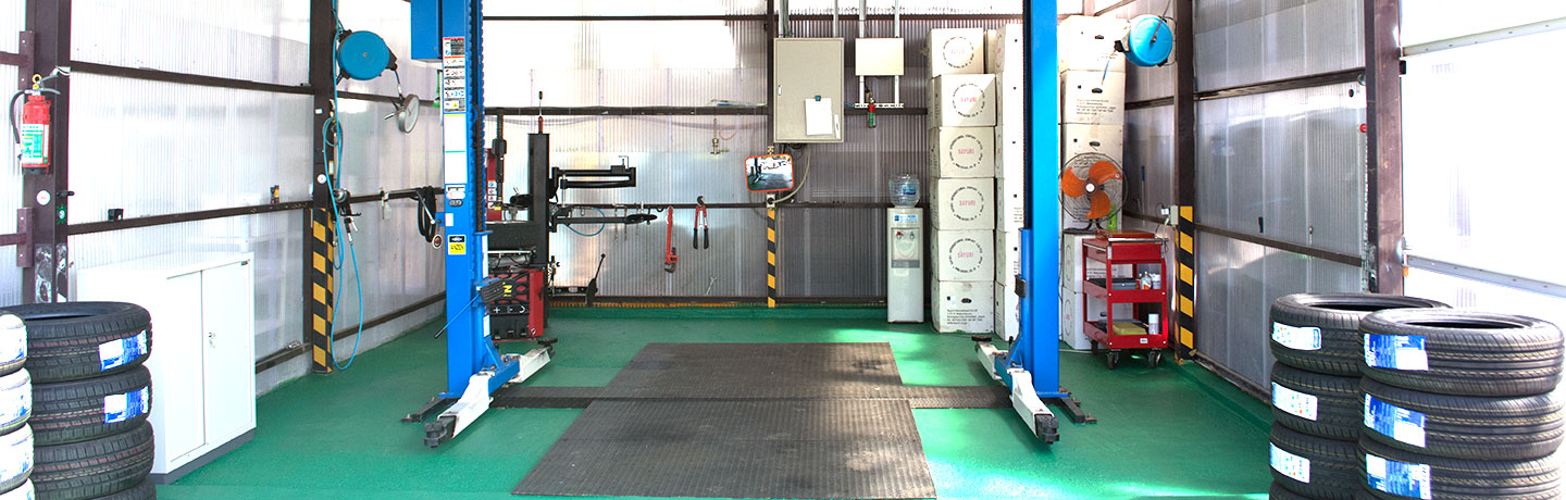 Tyre workshop of Sayuri International